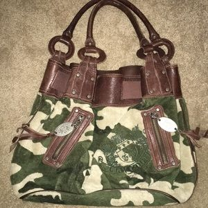 Juicy Couture Camo shoulder purse- Medium size